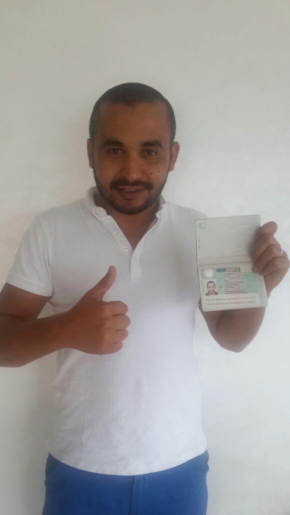 Visum gekregen in Rabat!